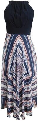 Sandra Darren Sleeveless Halter Maxi Dress