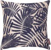 Clarissa Hulse Espinillo Cushion - 45x45cm - Metallic Natural Linen/Ink