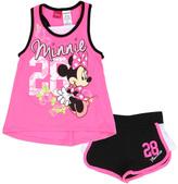 Original Penguin Pink & Black Minnie Mouse Tank & Shorts - Girls