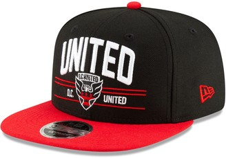 New Era D.C. United Satin Two-Tone 9FIFTY Snapback Adjustable Hat - Black/Red