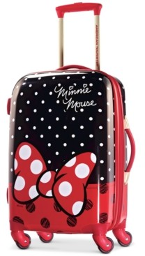 """American Tourister Disney Minnie Mouse Red Bow 21"""" Hardside Spinner Suitcase"""