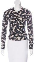 Diane von Furstenberg Printed Knit Cardigan