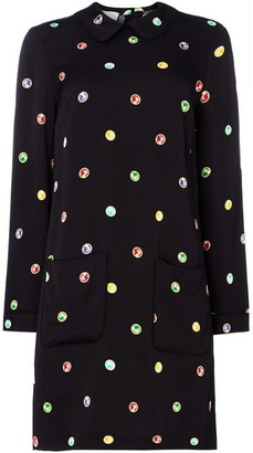 Escada Long sleeve embellished shift dress