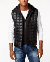 GUESS Men's Quilted Hooded Vest