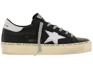 Golden Goose Sneakers Sneakers Hi Star In Smooth Leather With Laminated Star And Platform Sole