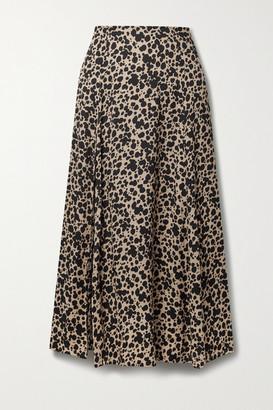 Reformation Zoe Leopard-print Crepe Midi Skirt - Leopard print