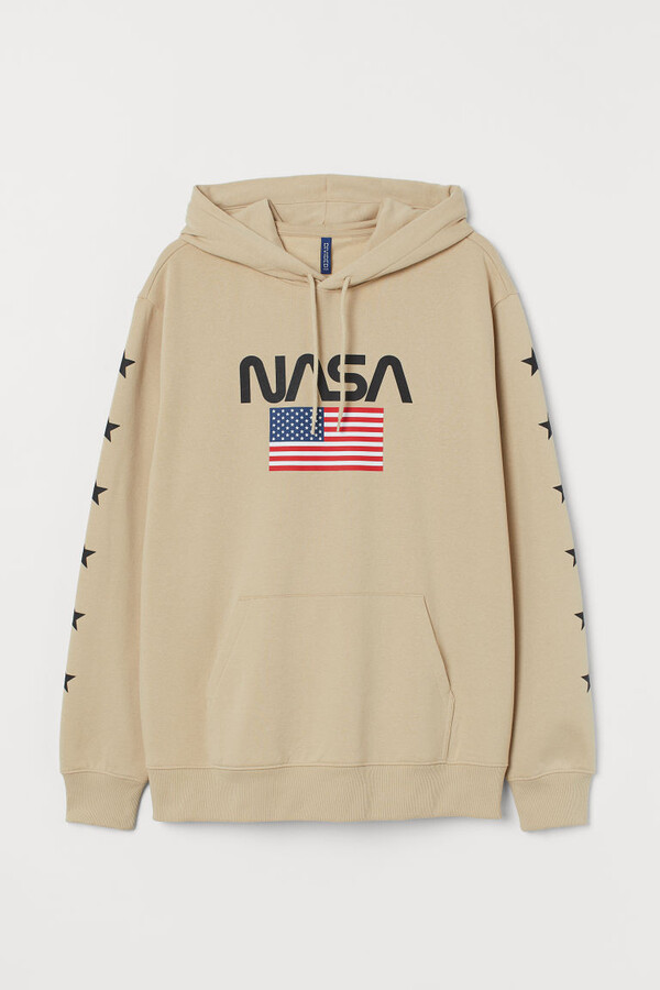 Thumbnail for your product : H&M Printed Hoodie - Beige