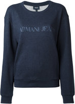 Armani Jeans logo print sweatshirt - women - Cotton - 40