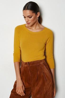 Karen Millen 3/4 Sleeve Fine Knit Jumper