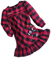 Disney Minnie Mouse Holiday Plaid Nightshirt for Girls - Personalizable