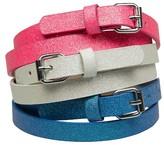Xhilaration Girls' 3-Pack Glitter Belts