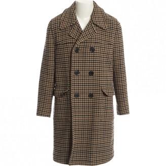 Saint Laurent Brown Wool Coat for Women