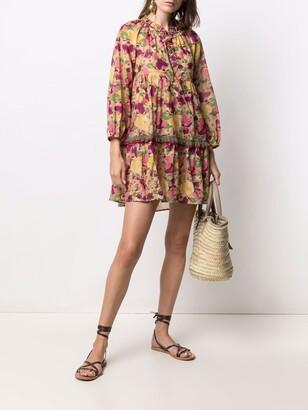 Anjuna Floral Print Cotton Minidress
