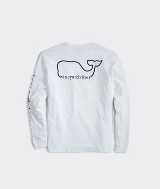 Vineyard Vines Big & Tall V V Whale Long-Sleeve Pocket Tee
