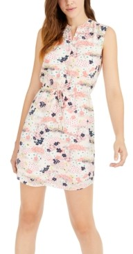 Maison Jules Printed Sleeveless Sheath Dress, Created for Macy's