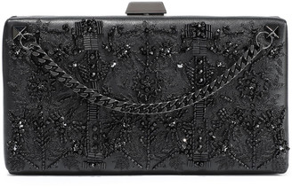 Valentino Embellished Leather Box Clutch
