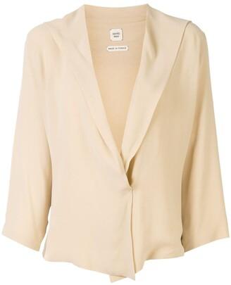 Hermes deep V-neck blouse