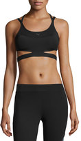 Puma PWRSHAPE Future Strappy-Back Mid-Impact Sports Bra, Black