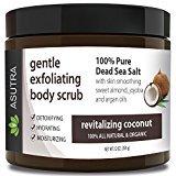 "Best ORGANIC Exfoliating Body Scrub - ""REVITALIZING COCONUT"" - 100% Pure Dead Sea Salt Scrub / Ultra Hydrating & Moisturizing with SKIN SMOOTHING Jojoba, Sweet Almond & Argan Oils - 12oz..."