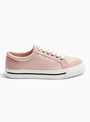 Topman Pink Canvas Chase Trainers