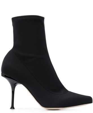 Sergio Rossi Stiletto Sock Boots