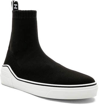 Givenchy George V Mid Sock Sneakers in Black & White | FWRD