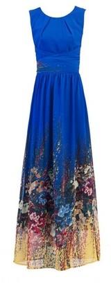 Dorothy Perkins Womens *Jolie Moi Blue Print Maxi Dress, Blue