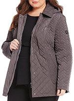 Calvin Klein Plus Short Quilted Coat