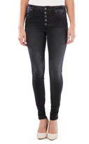 KUT from the Kloth Mia High Waist Button Fly Ankle Skinny Jeans