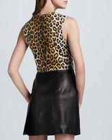 3.1 Phillip Lim Leopard-Print Leather Combo Dress