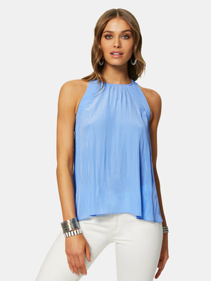 Ramy Brook Aubrie Sleeveless Pleated Top