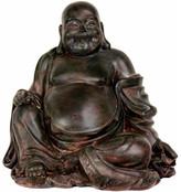 Oriental Furniture Sitting Lucky Buddha Figurine