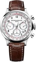 Baume & Mercier Men's Swiss Automatic Chronograph Capeland Brown Alligator Leather Strap Watch 44mm M0A10082