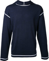 Alexander Wang contrast trim hoodie - men - Wool - L