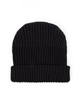 S.N.S. Herning Black Chunky Wool Beanie Hat