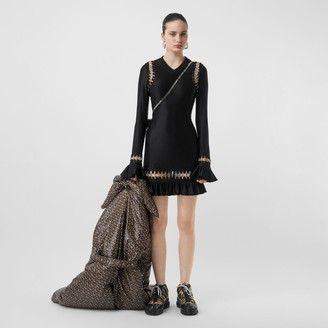 Burberry Ring-pierced Stretch Jersey Mini Dress