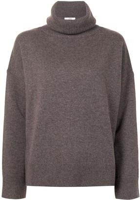 Co Drop-Shoulder Turtleneck Sweater