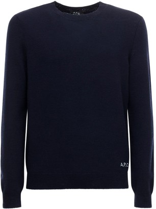 A.P.C. Logo Embroidery Knit Wool Sweater