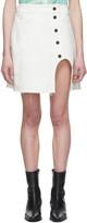 Lecavalier White Denim A-Line Miniskirt