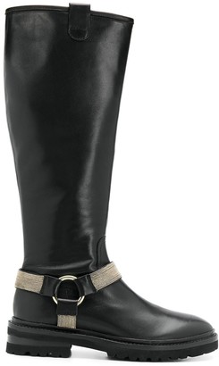 Steffen Schraut Knee-High Buckle Boots
