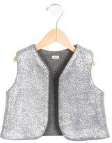 Makie Girls' Metallic-Accented Wool-Blend Vest