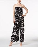 MSK Printed Strapless Blouson Jumpsuit