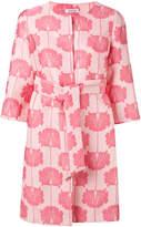 P.A.R.O.S.H. floral jacquard coat