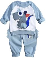 Flank Baby Boys Outfit Clothes Long Sleeve T-shirt Tops+Long Pants 1Set