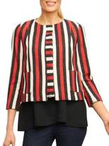 Foxcroft Colorblock Roundneck Jacket