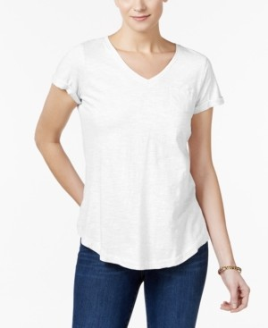 Style&Co. Style & Co Petite Cotton T-Shirt, Created for Macy's