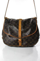 Louis Vuitton Brown Coated Canvas Monogram Sac Chasse Messenger Handbag