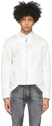Diesel White Denim D-JEI-SP2-NE Jacket