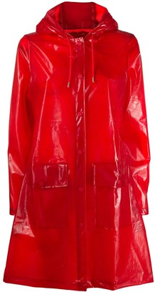 Rains Hooded Belted Raincoat