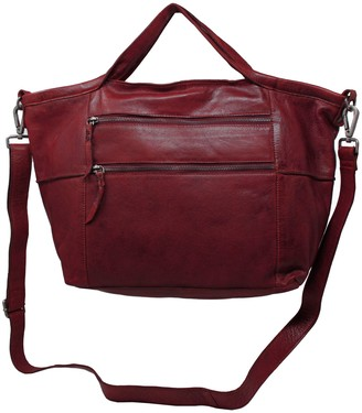 Latico Leathers Leather Zip-Pocket Tote - Bedford